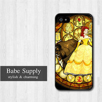 Princess Beauty And The Beast iPhone 5 case, Disney iPhone 5 hard case, cover skin case for iphone 5 (Hard / Rubber case for choice)