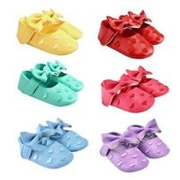Baby Shoes Newborn Girl Baby Moccasins Shoes Soft Infants Crib Bow-knot Shoes Sneakers