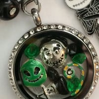Nightmare Before Christmas Inspired Memory Locket Jack Skellington