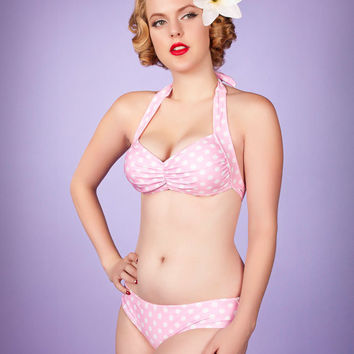 Bree Bubblegum Beach Retro Halter Top & Hipster Bottom