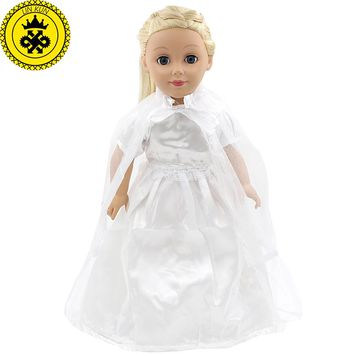 American Girl Doll Clothes White Wedding 18 inch Doll Clothes Madame Alexander  Handmade American Girl Doll Clothes 4 Styles D-1