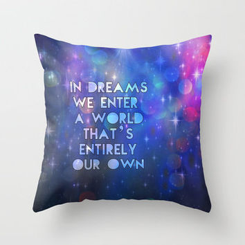 In dreams Throw Pillow by Sylvia Cook Photography | Society6