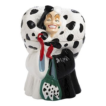 Disney by Vandor 101 Dalmatians Cruella De Vil Sculpted Cookie Jar New with Box