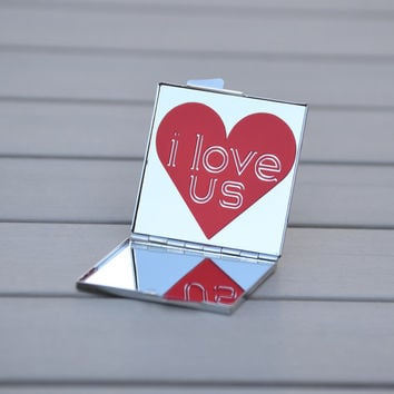 I love you gifts | I love us | Love quotes compact mirror | Girlfriend gift, gift for wife, gift for her | Small gifts