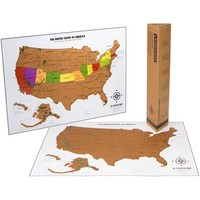 Scratch Off USA Poster Map with National Parks