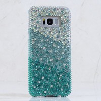 AB faded to Turquoise Crystals Design (style 925)