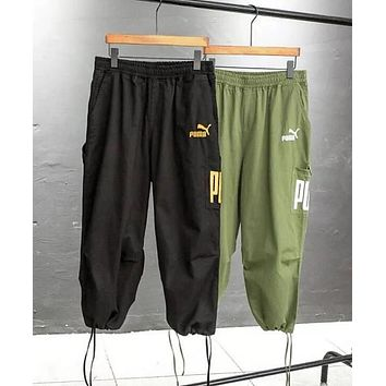 PUMA Trending Women Men Stylish Logo Embroidery Elastic Waistband Sport Pants Trousers Sweatpants I13063-1