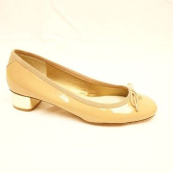Sam Edelman Maria Flat Ivory  Leather Scalloped Trim Bow Tie Ballet Flats 7 M