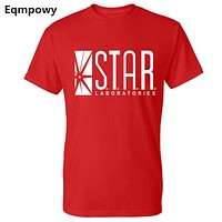 Eqmpowy 2017 New THE FLASH superhero shorts sleeve t shirt STAR LABORATORIES star labs joggers homme s summer jersey women men