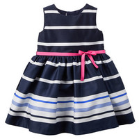 Striped Sateen Dress
