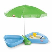 Little Tikes Butterfly Beach Sandbox and Wading Pool: Toys & Games