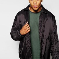 ASOS | ASOS Oversized Coach Jacket In Black at ASOS