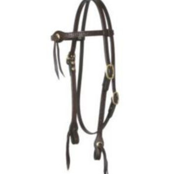 Circle Y Meander Tool Flared Headstall