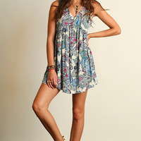 Gypsy Spirit Paisley Dress - Ivory Mix