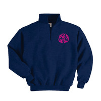 Personalized Sorority Sweatshirt 1/4 Zip Monogrammed for Women Personalized Monogrammed pullover Fleece Personalized Gifts - Embroidered