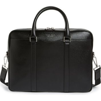 BOSS 'Signature' Leather Briefcase | Nordstrom
