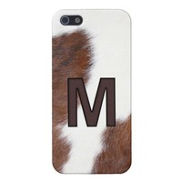 Letter M Brand Cowhide Livestock Iphone 5 Case from Zazzle.com