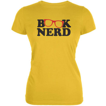 Book Nerd Bright Yellow Juniors Soft T-Shirt