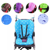 Thick Colorful Baby Infant Stroller Seat Pram Cushion Chair BB Car Umbrella Cart Seat Color Dot Cotton Mat Stroller Mat For Kids