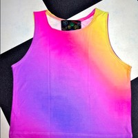 SWEET LORD O'MIGHTY! SUNSET CROP TANK