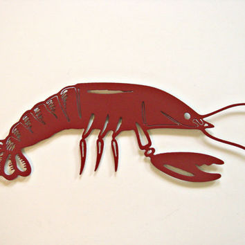 Lobster Nautical Sea Creature CNC Plasma Indoor/Outdoor Metal Wall Art