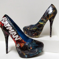 Made To Order Batman Decoupage Heels