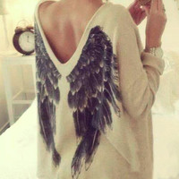 Fashion Back wings t-shirt BB918GE