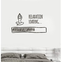 Vinyl Wall Decal Loading Relaxation Meditation Buddhism Bedroom Stickers Unique Gift (ig3623)