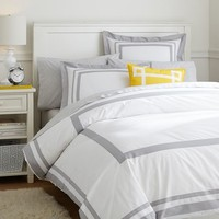 Suite Organic Duvet Cover + Sham, Light Grey