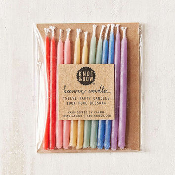 Knot & Bow Rainbow Beeswax Party Candle Set | Urban Outfitters