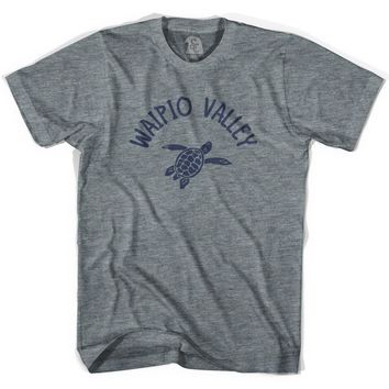 Waipio Valley Beach Sea Turtle Womens Tri-Blend T-shirt