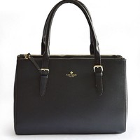 Hot Kate Spade Women Shopping Leather Tote Handbag Shoulder Bag Color Black