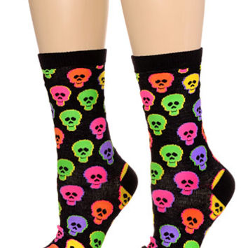 Candy Skulls Crew Socks
