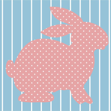 Full House Bunny Wallpaper Print