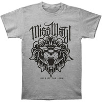 Miss May I Men's  Rise Of The Lion T-shirt Grey Rockabilia