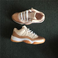 Air Jordan 11 Low Rose Gold Womens Basketball Shoe 36-40