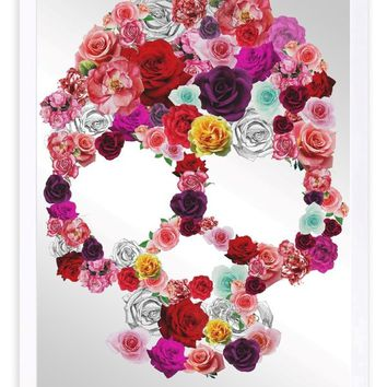 'Bed of Roses' Framed Graphic Art Print on Glass