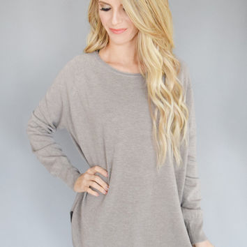 Day Off Sweater Top Mocha