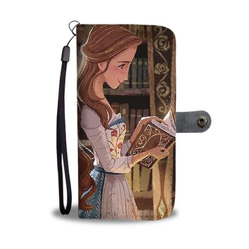 PEAPV4S Belle And Hermione Those Who Love Books Wallet Phone Case