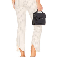 Citizens of Humanity Drew Fray Jean in Light Cream Stripe
