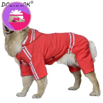 New Summer Waterproof Dog Raincoat Cool Clothes for Big Dogs Rainwear Jacket Costume Pets Apparel Sportswear 3XL- 7XL CW006