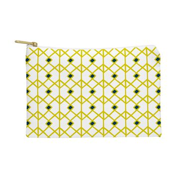 Heather Dutton Annika Diamond Citron Pouch