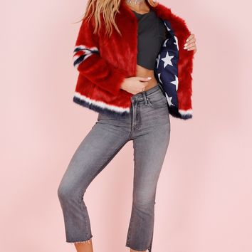 MOTHER | Long Boxy Jacket - Red Hot