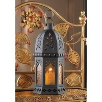 Yellow Moroccan Candle Lantern