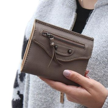 Mosunx(TM) Fashion Women Zipper Clutch Wallet Short Card Holder Purse Handbag