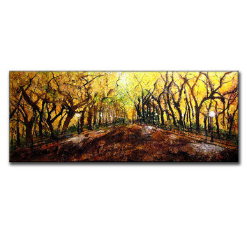Painting Abstract Art Huge Landscape Abstract Painting,Contemporary Modern Fine Art Colorful Canvas Art by Henry Parsinia 60x24