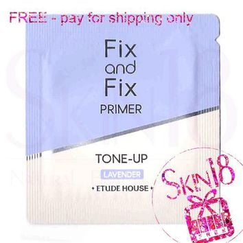 Freebies - Etude House Fix and Fix Primer Tone-up - Lavender (Sample Pack)  *exp.date 01/20
