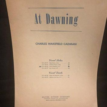 ( At Dawning ) by C. W. Cadman