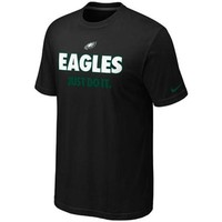 Nike Philadelphia Eagles Just Do It T-Shirt - Black