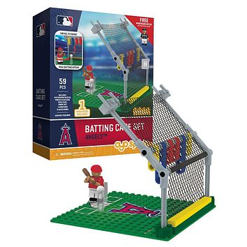 Los Angeles Angels MLB Batting Cage Set by Oyo Sports with Minifigure